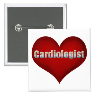Cardiologist Red Heart Pinback Button