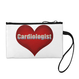 Cardiologist Red Heart Change Purse