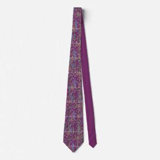 Cardiologist Rhythm Strip Watercolor Art Violet Neck Tie