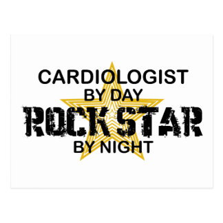 Cardiologist Rock Star by Night Postcard