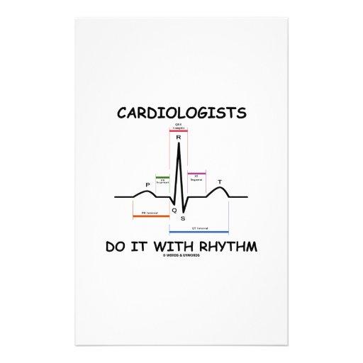 Cardiologists Do It With Rhythm (ECG / EKG) Custom Stationery