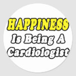 Cardiólogo de la felicidad… etiquetas redondas