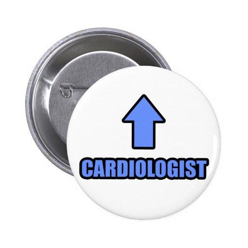 Cardiólogo de la flecha pin redondo 5 cm