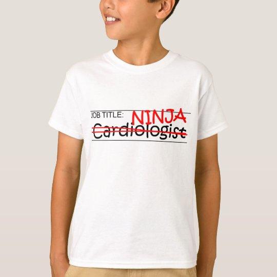 Cardiólogo de Ninja del cargo Playera