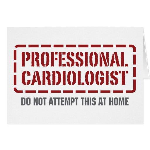 Cardiólogo profesional tarjeton