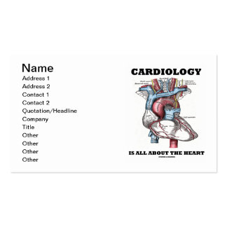 Cardiology Is All About The Heart (Anatomical) Double-Sided Standard Business Cards (Pack Of 100)