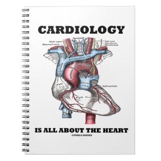 Cardiology Is All About The Heart (Anatomical) Spiral Notebook