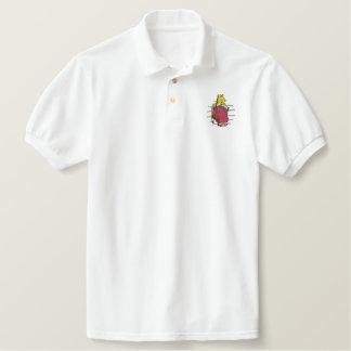Cardiology Logo Embroidered Polo Shirt