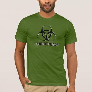 Cardiophage shirt with biohazard symbol.