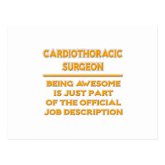 Cardiothoracic Surgeon .. Job Description Postcard