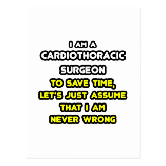 Cardiothoracic Surgeon T-Shirts and Gifts Postcard
