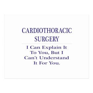 Cardiothoracic Surgery .. Explain Not Understand Postcard