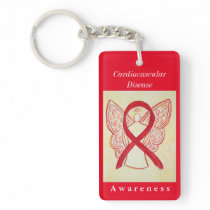 Cardiovascular Disease Awareness Angel Keychain