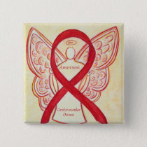 Cardiovascular Disease Awareness Angel Ribbon Pin