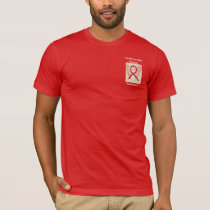 Cardiovascular Disease Awareness Ribbon Angel Tee