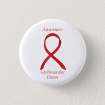 Cardiovascular Disease Awareness Ribbon Custom Pin