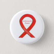 Cardiovascular Disease Custom Awareness Ribbon Pin