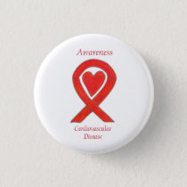 Cardiovascular Disease Heart Awareness Ribbon Pin