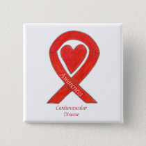 Cardiovascular Disease Heart Awareness Ribbon Pin