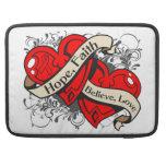 Cardiovascular Disease Hope Faith Dual Hearts Sleeves For MacBooks