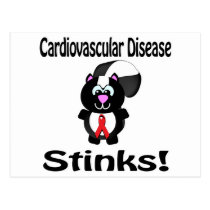 Cardiovascular Disease Stinks Skunk Awareness Desi Postcard