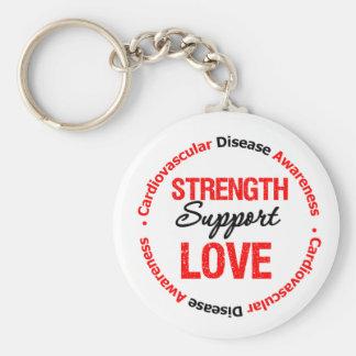 Cardiovascular Disease Strength Support Love Keychain