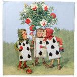Cardmen Paint the Queen Roses in Wonderland Printed Napkin