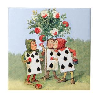 Cardmen Paint the Queen Roses in Wonderland Tile
