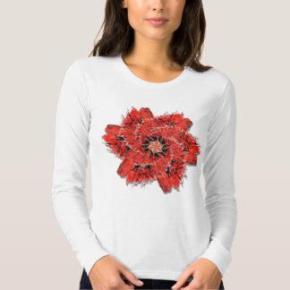 Cardnial Flower For Bird Fans, Flower fans Tee Shirt