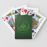 Cardo céltico colorido del nudo barajas de cartas