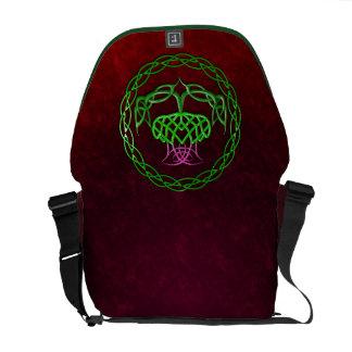 Cardo céltico colorido del nudo bolsa de mensajeria
