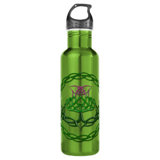 Cardo céltico colorido del nudo botella de agua de acero inoxidable