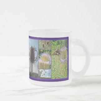 Cardo del cardo - fullonum del Dipsacus Taza De Café