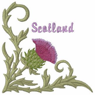 Cardo escocés sudadera bordada con serigrafia