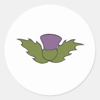 Cardo escocés pegatina redonda