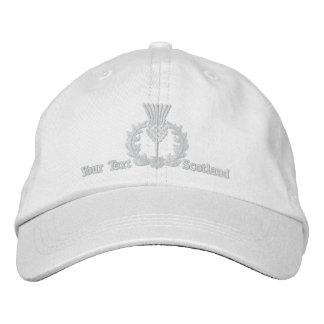 Cardo escocés personalizado Escocia en blanco Gorras De Beisbol Bordadas