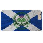 Cardo y bandera célticos del nudo funda de iPhone 6 plus barely there