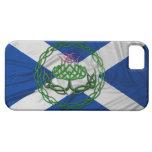 Cardo y bandera célticos del nudo iPhone 5 Case-Mate funda