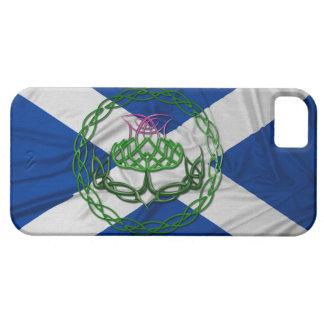 Cardo y bandera célticos del nudo iPhone 5 funda