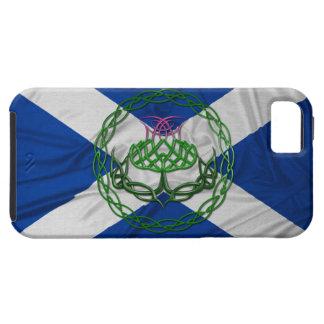 Cardo y bandera célticos del nudo iPhone 5 fundas