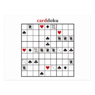 cardoku clubs royal flush postcard