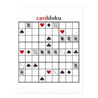cardoku diamonds royal flush postcard