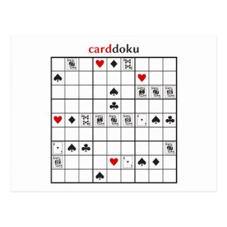 cardoku hearts royal flush postcard