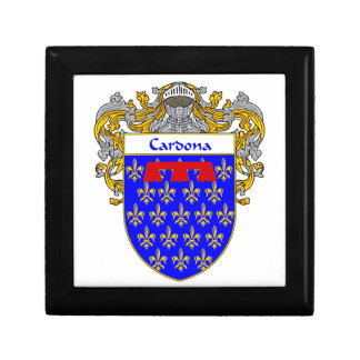Cardona Coat of Arms/Family Crest Jewelry Box