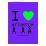 i [Love heart]  my besties    i [Love heart]  my besties    Cards