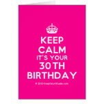 [Crown] keep calm it's your 30th birthday  Cards