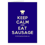 [Chef hat] keep calm and eat sausage  Cards
