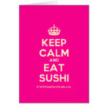 [Crown] keep calm and eat sushi  Cards
