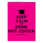 [Cup] keep calm and drink hot cocoa  Cards