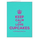 [Cupcake] keep calm and love cupcakes  Cards
